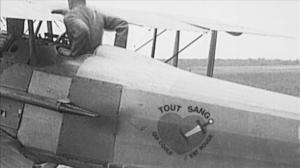Bullard dans son avion