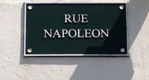 plaque rue Napoléon